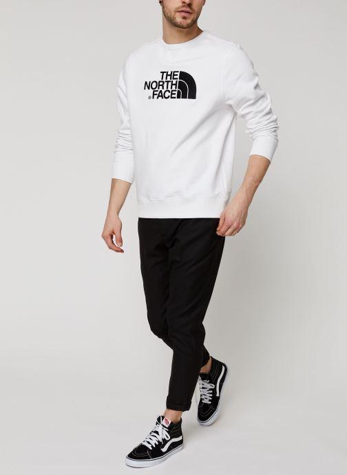 Vêtements The North Face Drew Peak Crew Blanc vue bas / vue portée sac