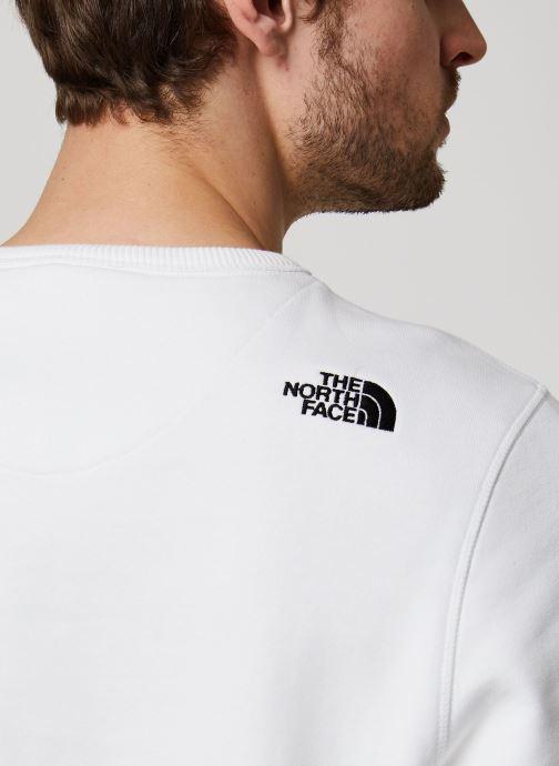 Vêtements The North Face Drew Peak Crew Blanc vue face