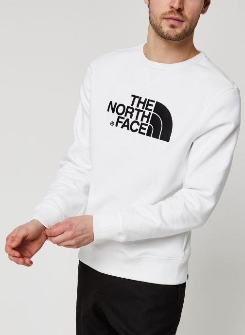 Vêtements The North Face Drew Peak Crew Blanc vue droite