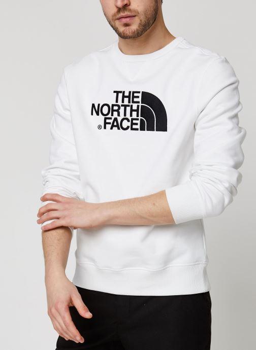 Vêtements The North Face Drew Peak Crew Blanc vue détail/paire