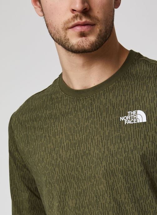 Vêtements The North Face Red Box Tee Vert vue face