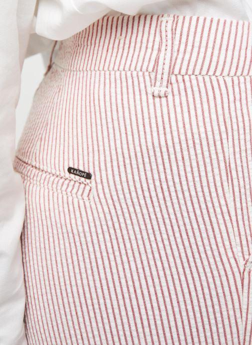 Kleding Kanopé Pantalon Dahlia Rayure Rood voorkant