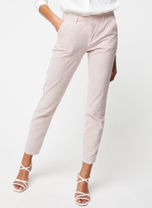 Kleding Kanopé Pantalon Dahlia Rayure Rood detail