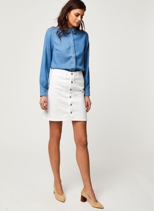 Vêtements Kanopé Jupe Clothilde Twill Blanc vue bas / vue portée sac
