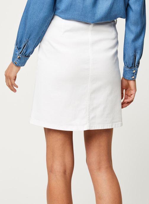 Vêtements Kanopé Jupe Clothilde Twill Blanc vue portées chaussures