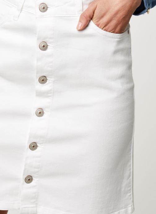Vêtements Kanopé Jupe Clothilde Twill Blanc vue face