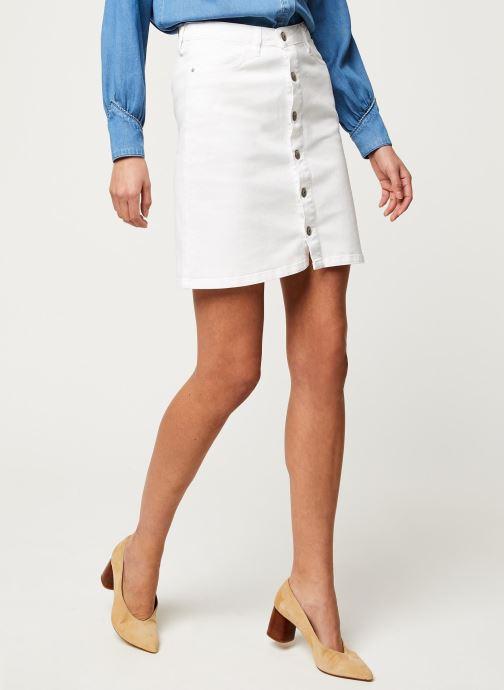 Vêtements Kanopé Jupe Clothilde Twill Blanc vue détail/paire