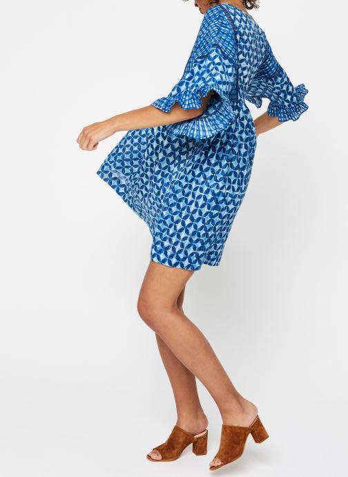 Vêtements La Cabane de Stella ROBE COURTE HAWAI Bleu vue bas / vue portée sac