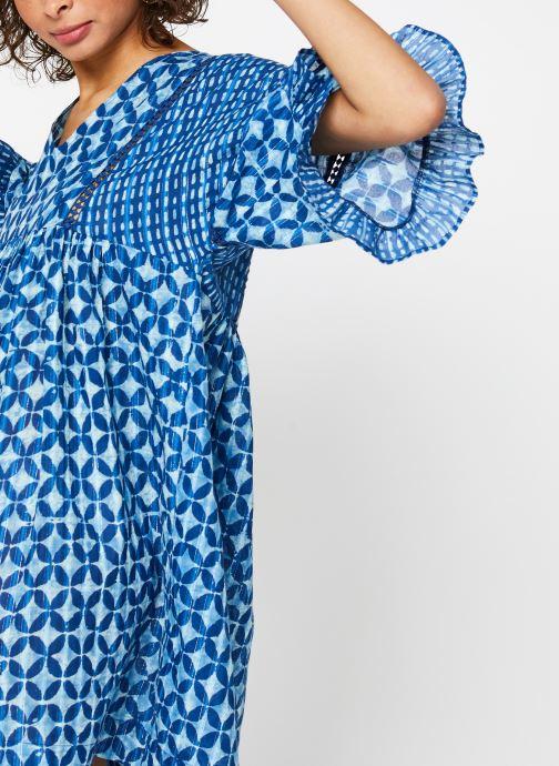 Vêtements La Cabane de Stella ROBE COURTE HAWAI Bleu vue face