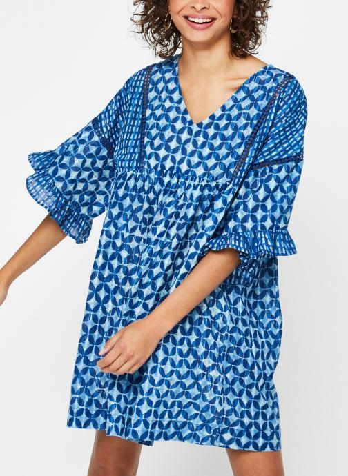 Vêtements La Cabane de Stella ROBE COURTE HAWAI Bleu vue droite
