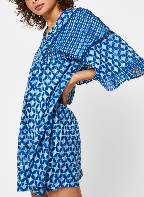 Vêtements La Cabane de Stella ROBE COURTE HAWAI Bleu vue détail/paire