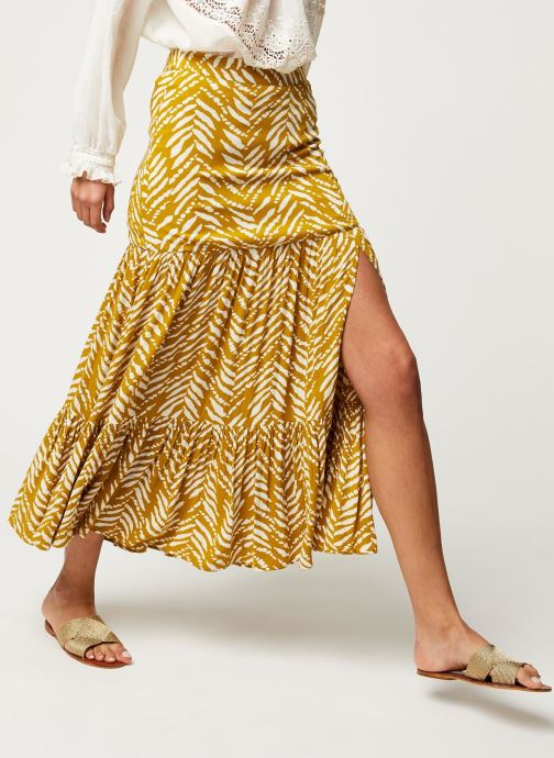 Vêtements Stella Forest JUPE FENDUE MALI Jaune vue détail/paire