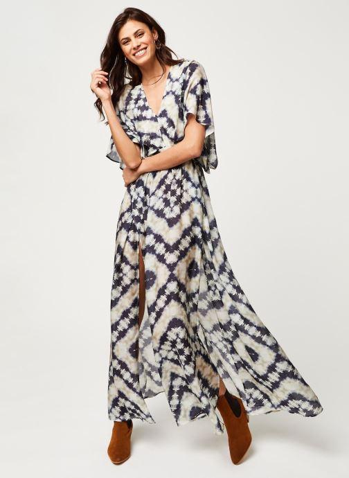 Vêtements Stella Forest ROBE LONGUE JANIS Bleu vue bas / vue portée sac