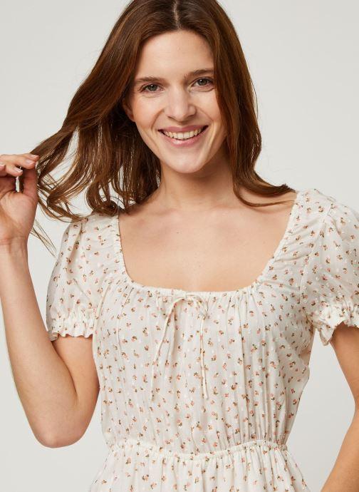 Vêtements Billabong Robe Fall For Love Blanc vue face