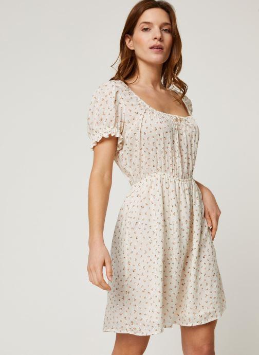 Vêtements Billabong Robe Fall For Love Blanc vue droite