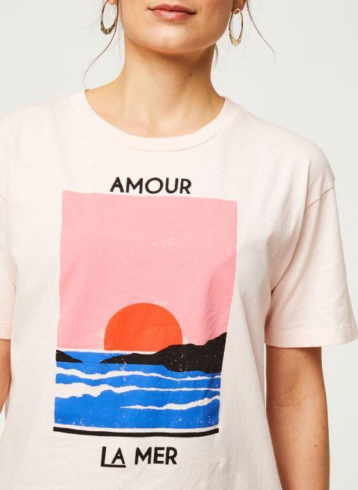 Vêtements Billabong T-Shirt Amour La Mer Rose vue face