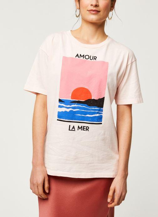 Vêtements Billabong T-Shirt Amour La Mer Rose vue droite