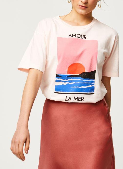 Kleding Billabong T-Shirt Amour La Mer Roze detail