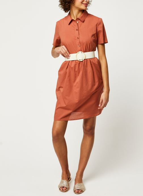 Vêtements Pieces Dresses PCANEA Marron vue bas / vue portée sac