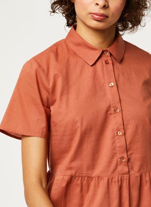 Vêtements Pieces Dresses PCANEA Marron vue face