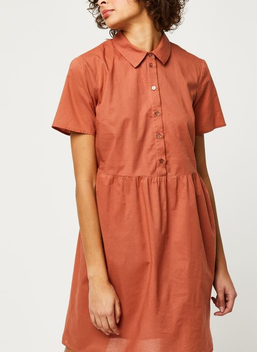 Vêtements Pieces Dresses PCANEA Marron vue droite