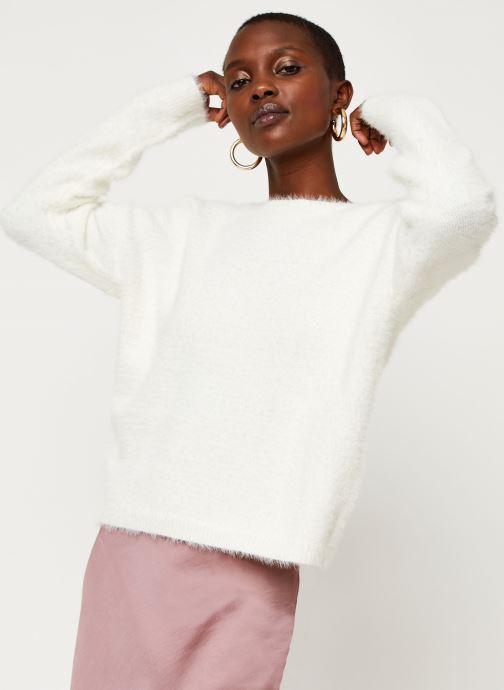 Vêtements Pieces Pullover PCHILJA Blanc vue droite