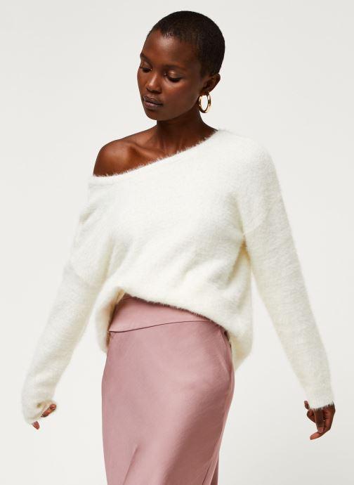 Vêtements Pieces Pullover PCHILJA Blanc vue détail/paire