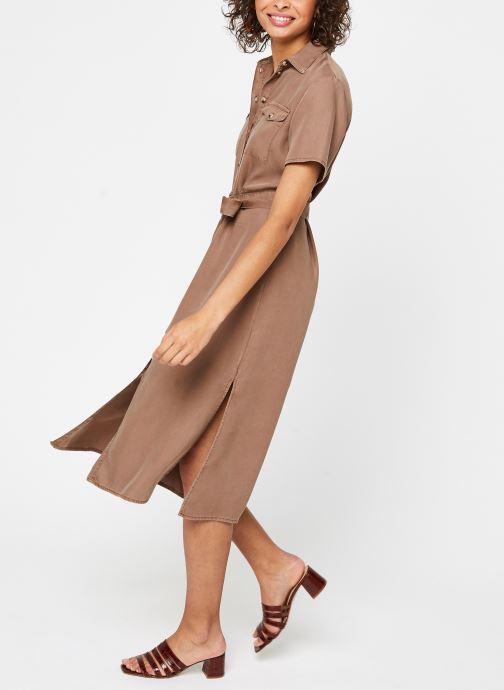 Vêtements Pieces Dresses PCNOLA Marron vue bas / vue portée sac