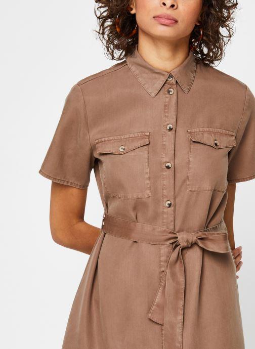Vêtements Pieces Dresses PCNOLA Marron vue face