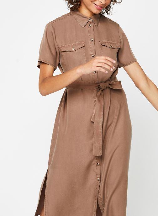 Vêtements Pieces Dresses PCNOLA Marron vue droite