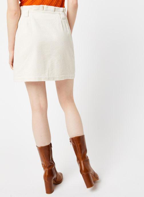 Vêtements Yuka JUPE JEANNE Beige vue portées chaussures