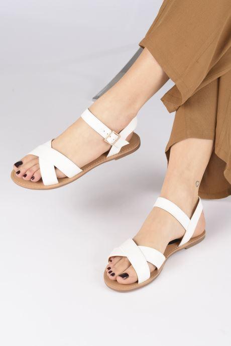 Sandalen I Love Shoes Thafal weiß ansicht von unten / tasche getragen