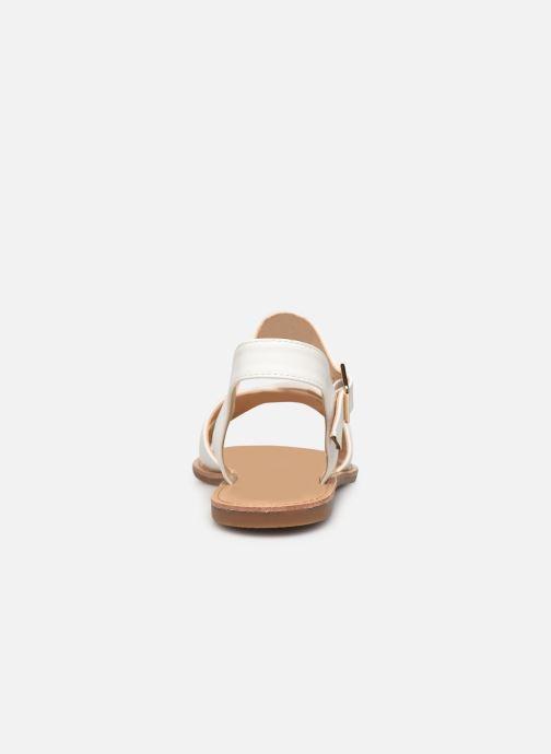 Sandalias I Love Shoes Thafal Blanco vista lateral derecha