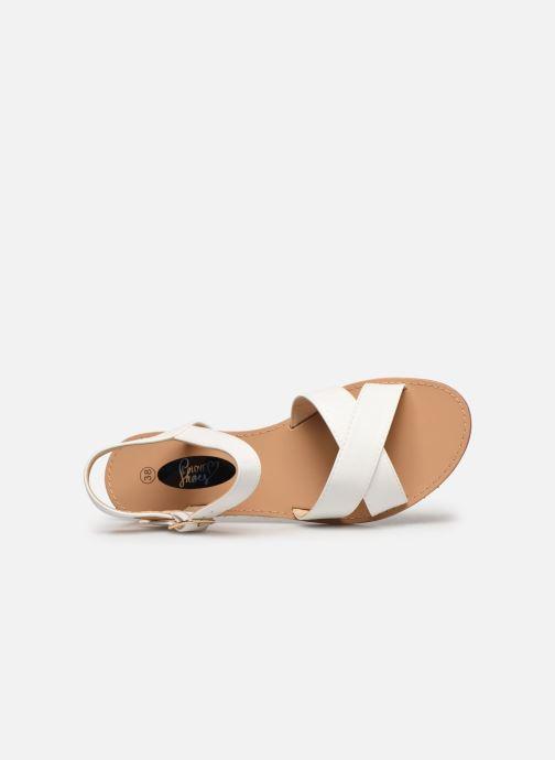 Sandalias I Love Shoes Thafal Blanco vista lateral izquierda