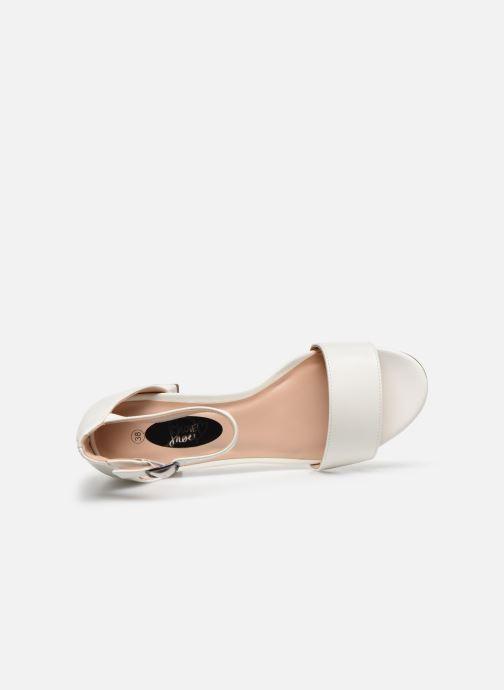 Sandalias I Love Shoes Thavoue Blanco vista lateral izquierda