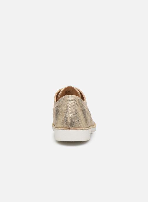 Scarpe con lacci I Love Shoes Thabam Oro e bronzo immagine destra