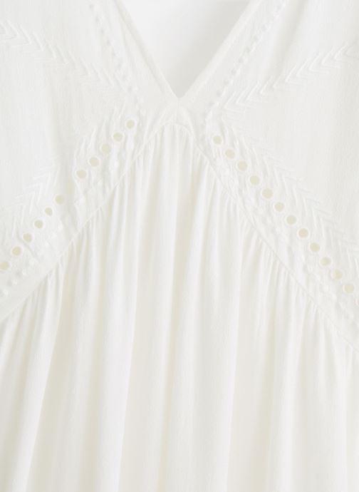 Vêtements Suncoo ROBE COLLY Blanc vue portées chaussures