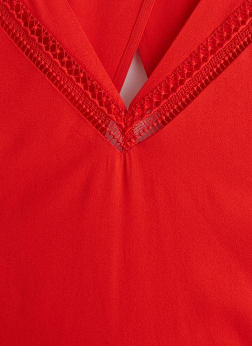 Vêtements Suncoo ROBE CORINNA Rouge vue portées chaussures