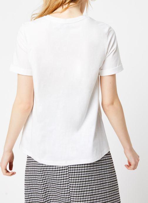 Vêtements Suncoo T-SHIRT MELROSE Blanc vue portées chaussures