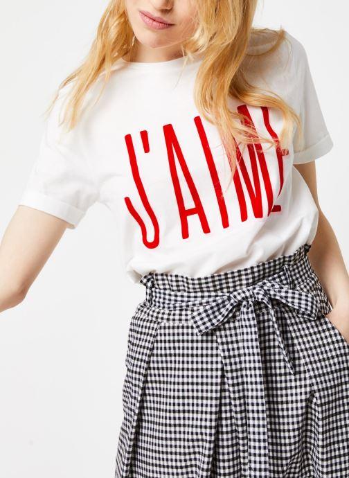 Vêtements Suncoo T-SHIRT MELROSE Blanc vue détail/paire