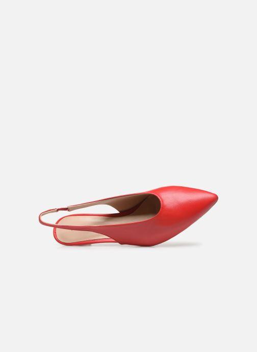 Zapatos de tacón Humat Galena Hebilla Rojo vista lateral izquierda