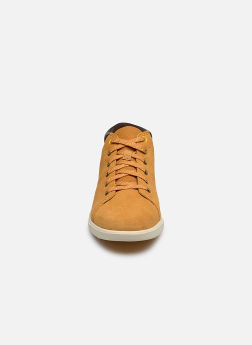 Baskets Timberland Bayham Leather Chukka Marron vue portées chaussures