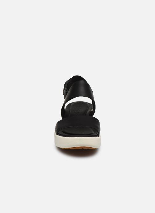 Sandales et nu-pieds Timberland Los Angeles Wind 2 Bands Sandal Noir vue portées chaussures