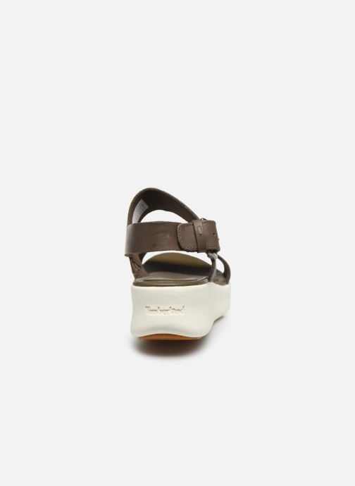 Sandals Timberland Los Angeles Wind 2 Bands Sandal Brown view from the right