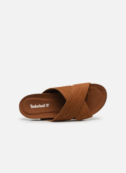 Mules et sabots Timberland Malibu Waves Cross Slide Marron vue gauche