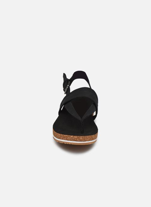 Sandales et nu-pieds Timberland Malibu Waves Thong Noir vue portées chaussures
