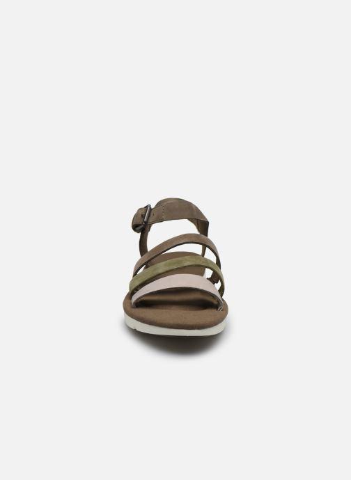 Sandales et nu-pieds Timberland Lottie Lou 3-Band Sandal Marron vue portées chaussures