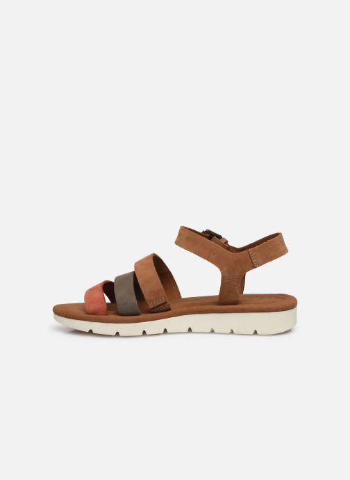 Sandales et nu-pieds Timberland Lottie Lou 3-Band Sandal Marron vue face