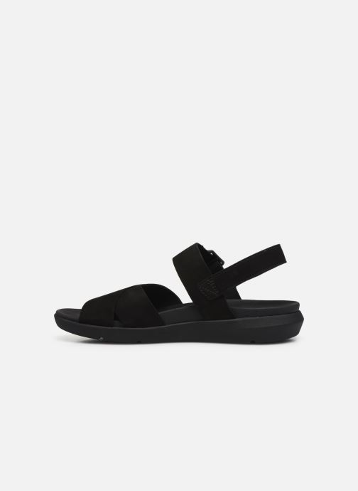 Sandals Timberland Wilesport Leather Sandal Black front view