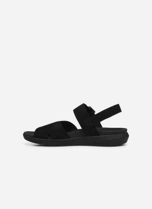 Sandales et nu-pieds Timberland Wilesport Leather Sandal Noir vue face